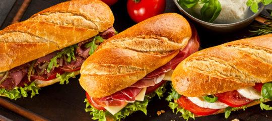 Commander de sandwich à emporter